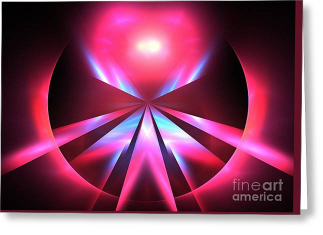 Abstract Nature Greeting Cards - Magenta Jewel Greeting Card by Kim Sy Ok