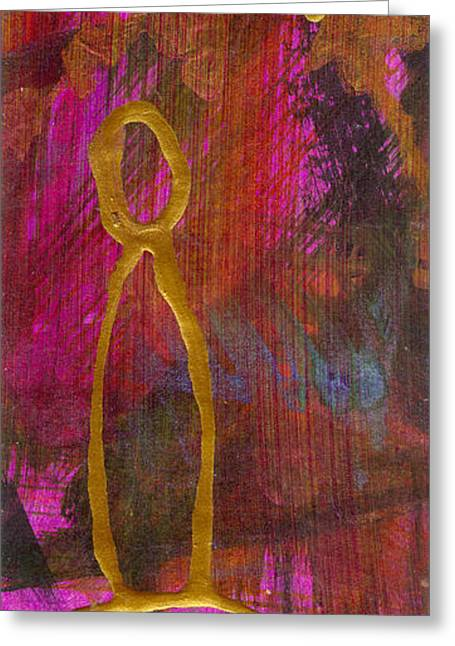 Religious Mixed Media Greeting Cards - Magenta Joy Stands Alone Greeting Card by Angela L Walker