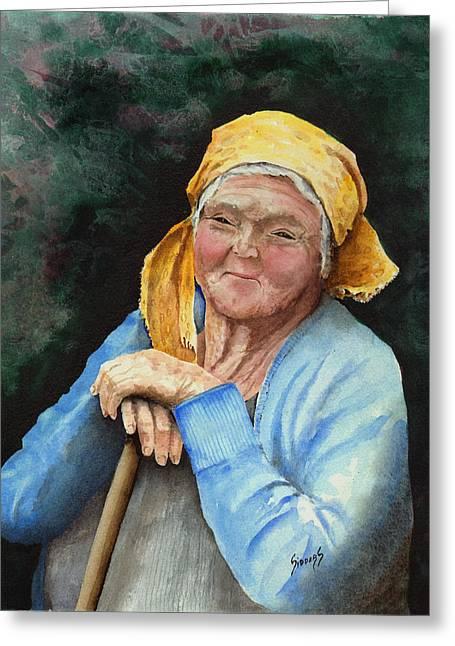 Elder Greeting Cards - Maggie Greeting Card by Sam Sidders