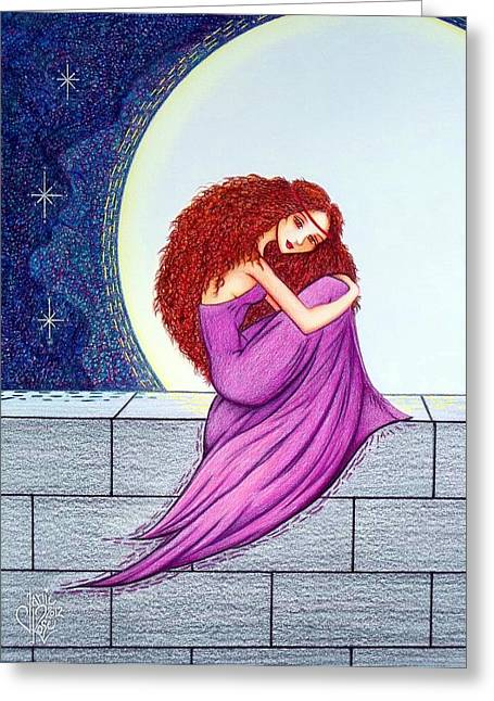 Stonewall Drawings Greeting Cards - Maggies Lullaby Greeting Card by Danielle R T Haney