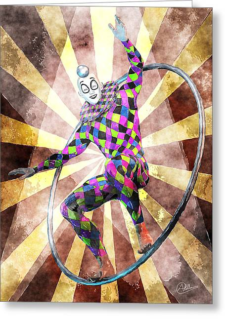 Jester Greeting Cards - Magic Circus By Quim Abella Greeting Card by Joaquin Abella