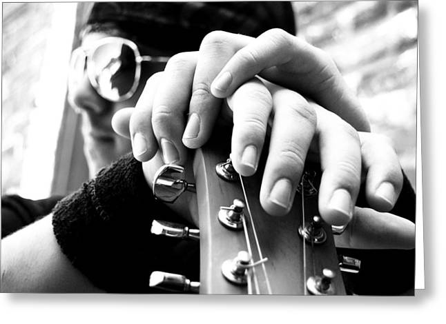 Musicans Greeting Cards - Magic Fingers Greeting Card by Beverly Hammond