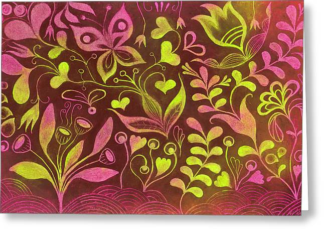 Magic Pastels Greeting Cards - Magic forest Greeting Card by Paivi Vesala