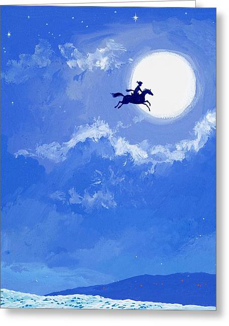 Person Greeting Cards - Magic Horse Greeting Card by Angus McBride