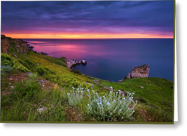Exposure Greeting Cards - Magic hour seascape Greeting Card by Evgeni Ivanov