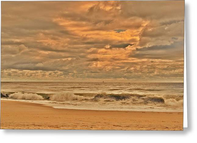 Magic In The Air - Jersey Shore Greeting Card by Angie Tirado