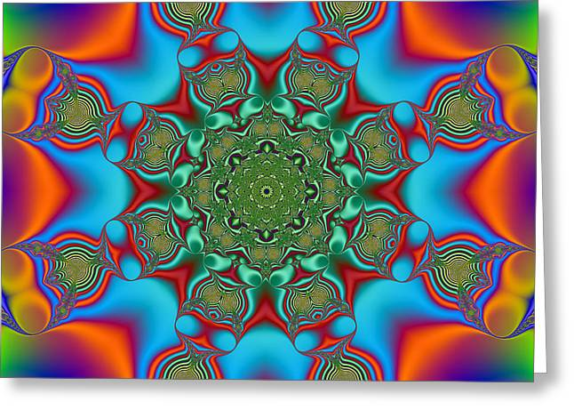 Geometric Artwork Greeting Cards - Magic Mandala Greeting Card by Marv Vandehey