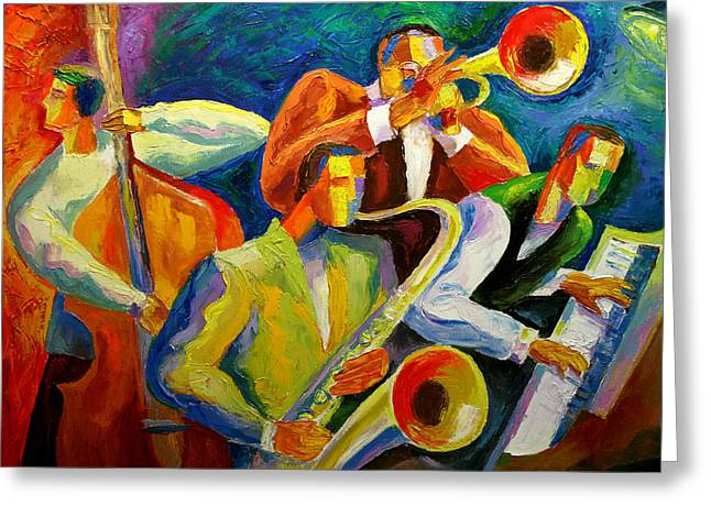 Jazz Pianist Greeting Cards - Magic Music Greeting Card by Leon Zernitsky