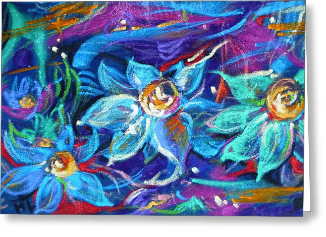 Magic Pastels Greeting Cards - Magic of midnight Greeting Card by Mikko Tyllinen