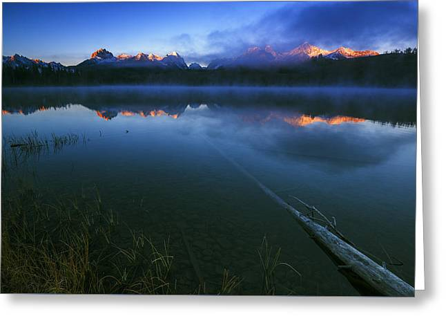 Reflections Of Sky In Water Greeting Cards - Magic of Sawtooth Sunrise in Stanley Idaho Greeting Card by Vishwanath Bhat