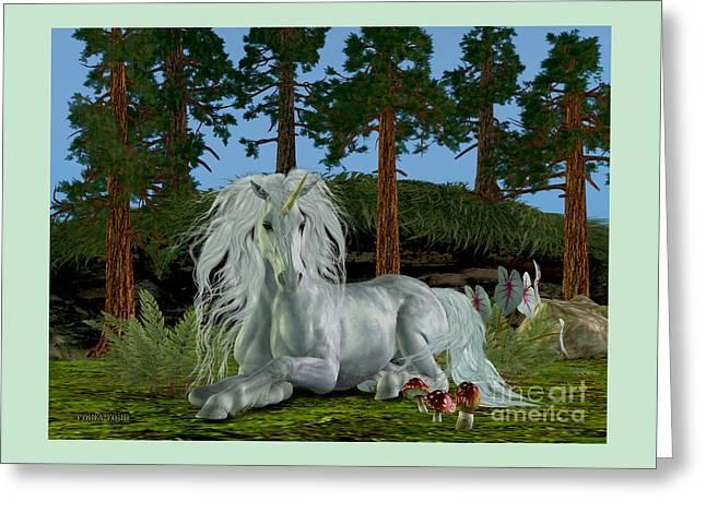 Magic Woodland Greeting Card by Corey Ford