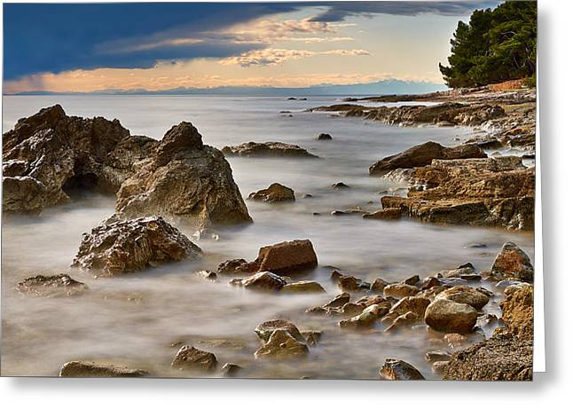 Ocean Shore Greeting Cards - Magical Adriatic Coast Greeting Card by Dejan Stojakovic