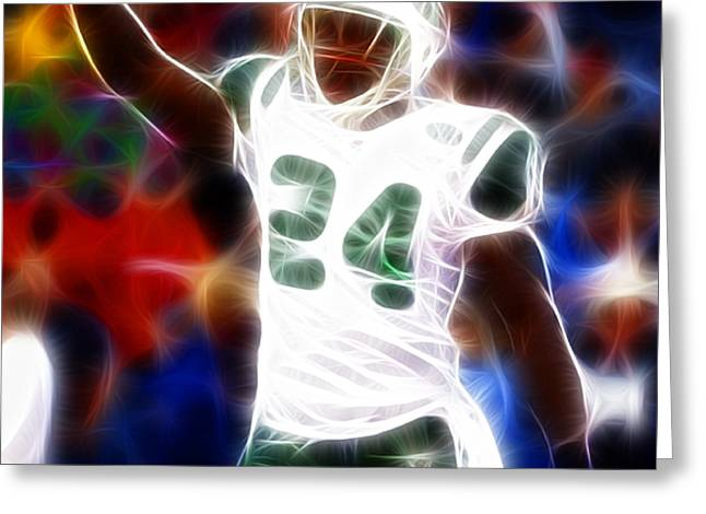 Magical Darrelle Revis Greeting Card by Paul Van Scott