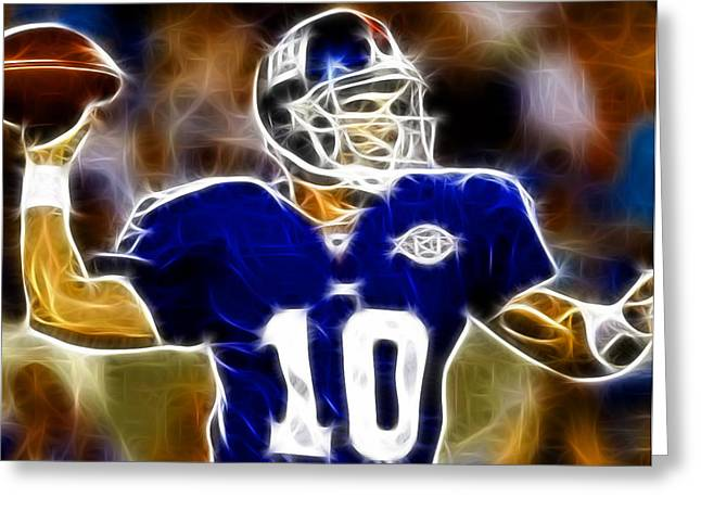 Magical Eli Manning Greeting Card by Paul Van Scott