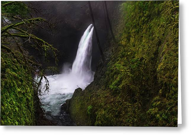 Magical Falls Greeting Card by Larry Marshall