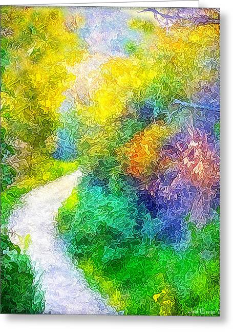 Mystical Landscape Greeting Cards - Magical Garden Passion Pathway Greeting Card by Joel Bruce Wallach