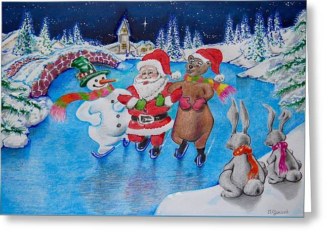 Christmas Greeting Greeting Cards - Magical Ice Greeting Card by Geni Gorani
