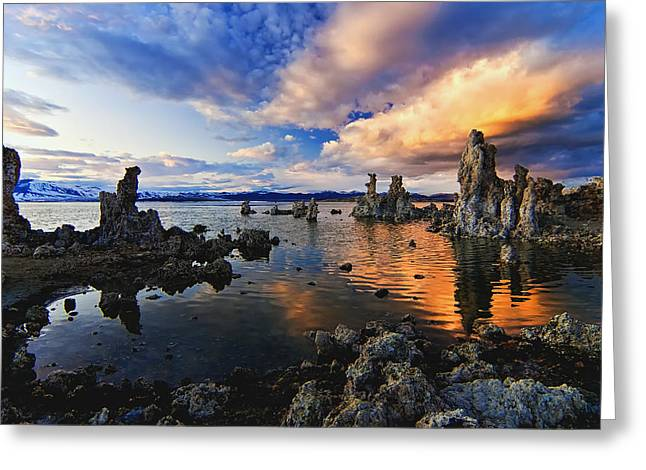 Mono Landscape Greeting Cards - Magical Mono Lake Greeting Card by Andrew J. Lee