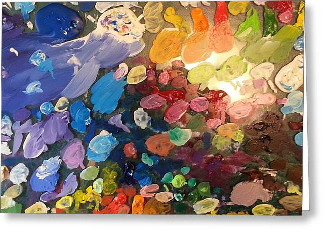 Paint Photograph Paintings Greeting Cards - Magnetic Paint Palette Greeting Card by Tanielle Childers