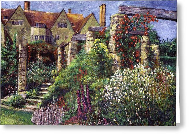 Magnificent Garden Greeting Card by David Lloyd Glover