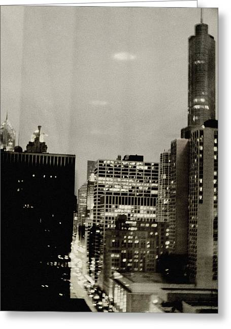 Magnificent Mile Greeting Cards - Magnificent Mile Chicago Night Greeting Card by Kyle Hanson