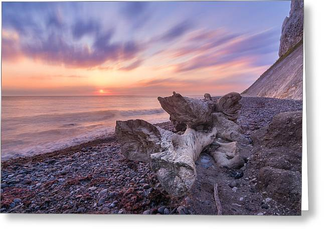 Moon Beach Greeting Cards - Magnificent Sunrise Greeting Card by Marcus Karlsson Sall