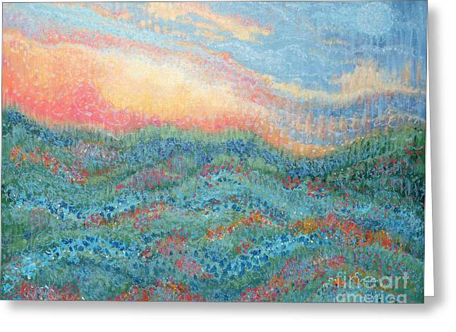 Surreal Landscape Greeting Cards - Magnificent Sunset Greeting Card by Holly Carmichael