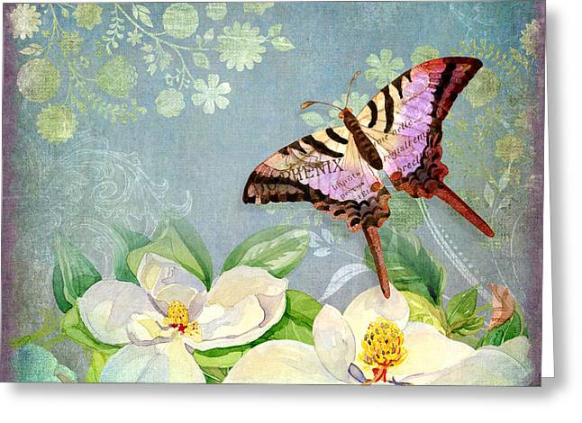 Swallowtail Greeting Cards - Magnolia Dreams  Greeting Card by Audrey Jeanne Roberts