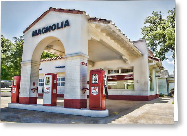 Arkansas Greeting Cards - Magnolia Gas - Little Rock Greeting Card by Stephen Stookey