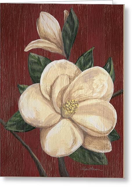Wood Grain Greeting Cards - Magnolia II Greeting Card by April Moen