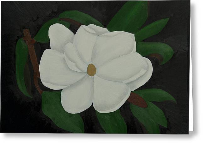 Limbo Greeting Cards - Magnolia in Black Greeting Card by Paul Anderson