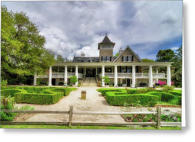 Historic Home Greeting Cards - Magnolia Plantation Home Greeting Card by Drew Castelhano
