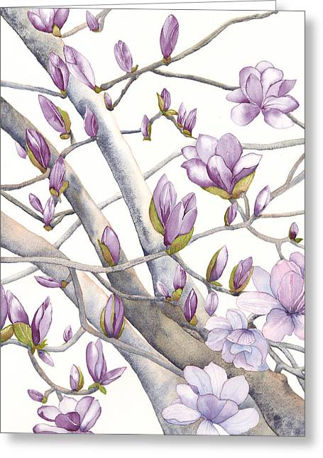 Magnolia Due Greeting Card by Autumn Leaves