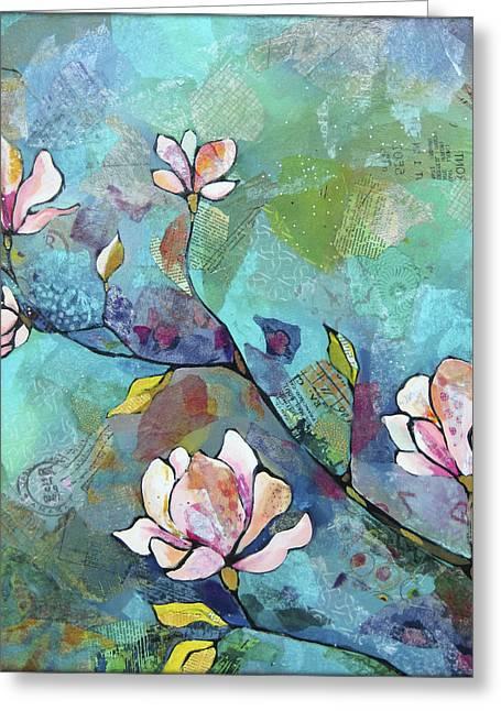 Magnolias Greeting Card by Shadia Derbyshire