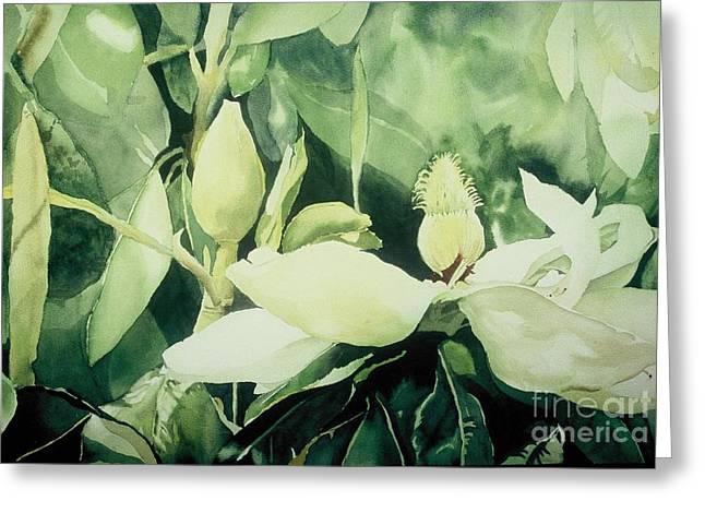 Elizabeth Carr Greeting Cards - Magnolium Opus Greeting Card by Elizabeth Carr