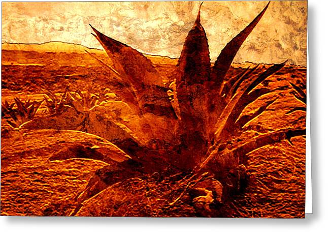 Unique Art Digital Art Greeting Cards - Maguey Agave Greeting Card by Jose Espinoza