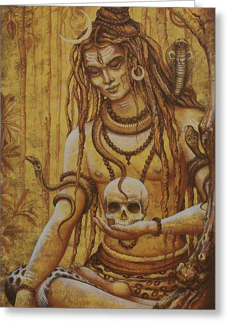 Samadhi Greeting Cards - Mahadev. Shiva Greeting Card by Vrindavan Das