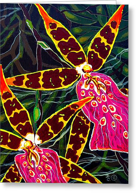 Debbie Chamberlin Greeting Cards - Mahalo And Aloha Greeting Card by Debbie Chamberlin