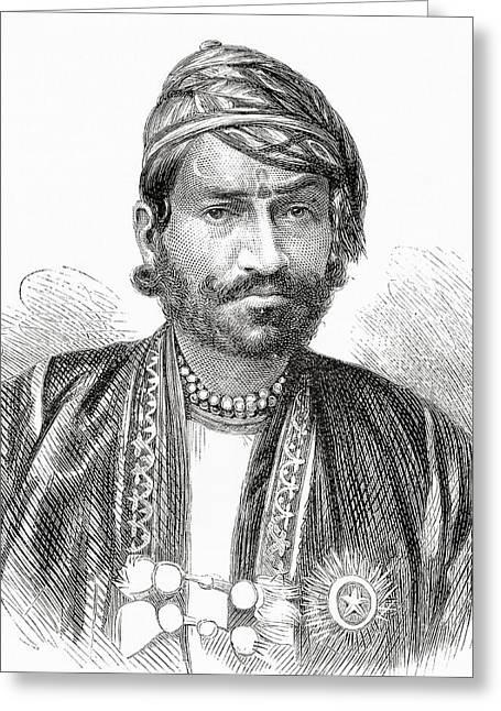 Ram Singh Greeting Cards - Maharaja Sawai Ram Singh Ii, Maharaja Greeting Card by Ken Welsh