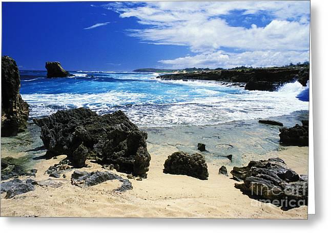 Koloa Greeting Cards - Mahaulepu Koloa Beach Greeting Card by Peter French - Printscapes
