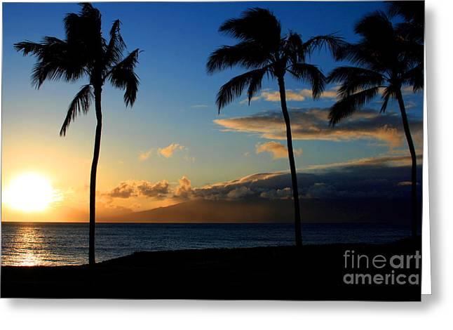 Tropical Photographs Digital Greeting Cards - Mai ka aina Mai ke kai Kaanapali Maui Hawaii Greeting Card by Sharon Mau