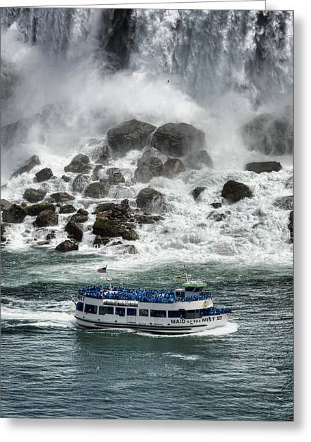 Rainbow River Greeting Cards - Maid of the Mist 1 Greeting Card by Stephen Stookey