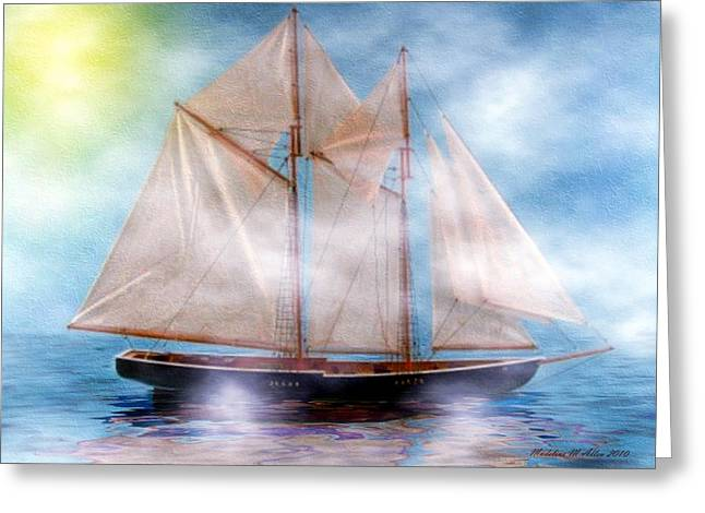 Water Vessels Greeting Cards - Maiden Of The Mist Greeting Card by Madeline  Allen - SmudgeArt