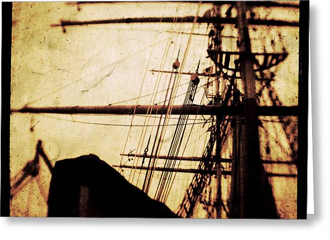 Masts Greeting Cards - Maiden Voyage Greeting Card by Andrew Paranavitana