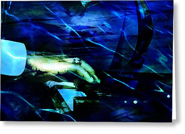 Jazz Pianist Greeting Cards - Maiden Voyage Greeting Card by Ken Walker