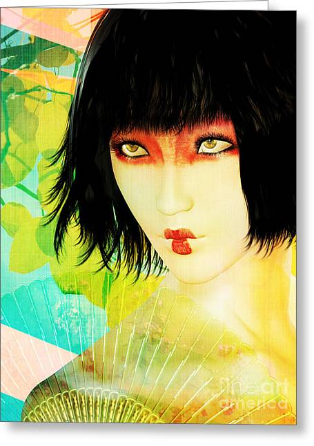 Nature Abstracts Greeting Cards - Maiko Greeting Card by Shanina Conway