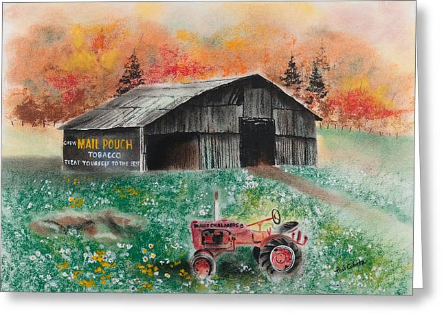 Mail Pouch Barn West Virginia 3 Greeting Card by Paul Cubeta