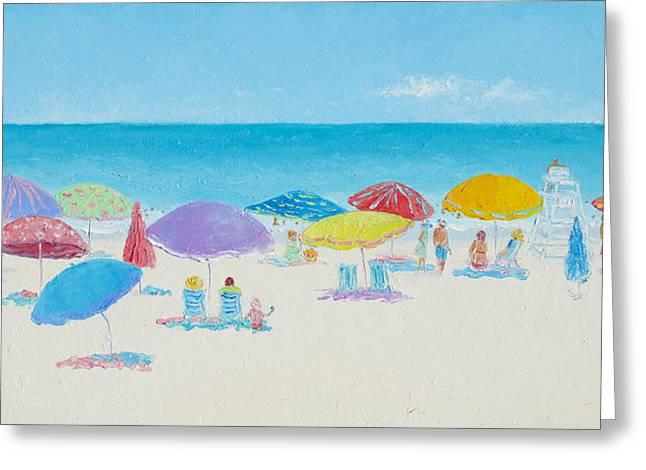 Main Beach East Hampton  Greeting Card by Jan Matson