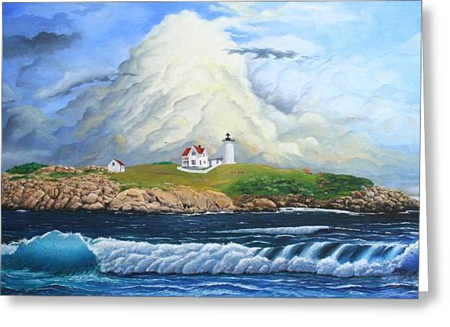 Mike Ivey Greeting Cards - Main Lighthouse Greeting Card by Mike Ivey