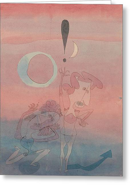 Main Scene From The Ballet The False Oath Greeting Card by Paul Klee